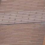 finished masonry brick install