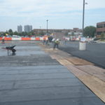 asphalt Install with membrane protection