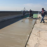 new concrete installation